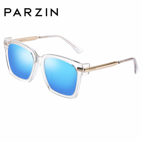 PARZIN Brand Winter New Polarized Sunglasses Men and Women Fashion Large Square Frame Driving sunglasses With Original Box9673 Karachi