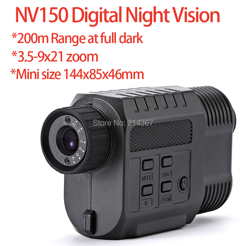 200m Range Digital Infrared Night Vision Scope Cameras with 3 level IR NV150 Mini size Night