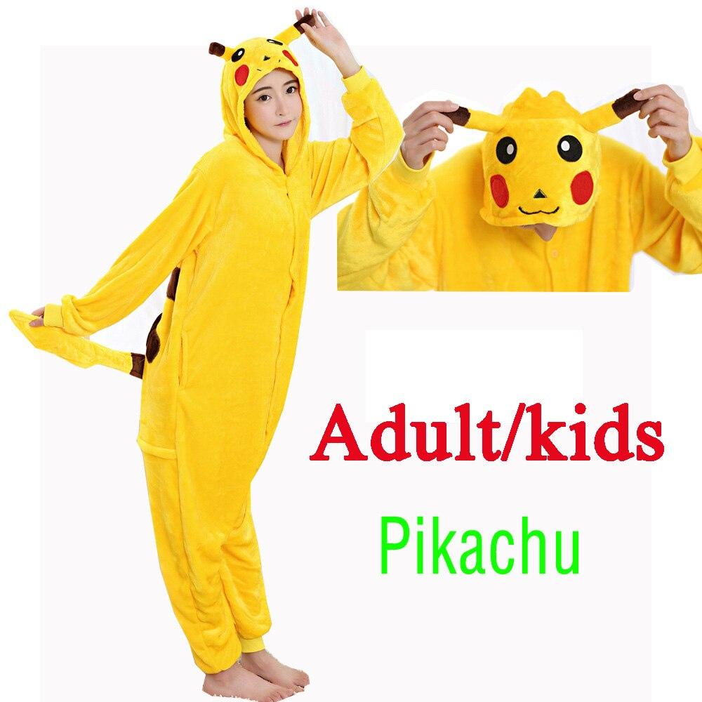b34e14fa Detail Feedback Questions about Kid's Adult Kugurumi Onesie Animal Costume  Flannel Soft Whole Pajama One Piece Boy Girl Child Pokemon Pikachu Winter  Sleep ...