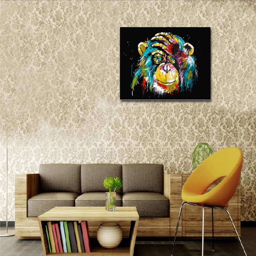 Decorative Owl Oil Painting By Numbers Painting By Numbers Animal in Painting Calligraphy from Home Garden