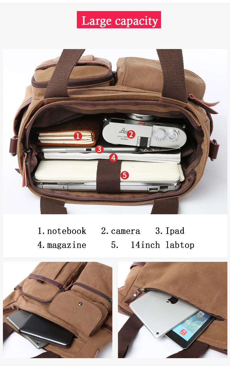 HTB17PH2bgFY.1VjSZFqq6ydbXXa6 Jorgeolea Men Canvas Business Briefcase Versatile Casual Handbag For Men Travel Satchel E502
