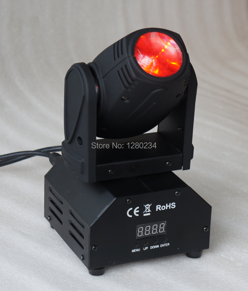 china stage light factory cheap dj lihgts led mini moving head 1pcs*10W 4 in 1 RGBW led beam moving head light niugul dmx stage light mini 10w led spot moving head light led patterns lamp dj disco lighting 10w led gobo lights chandelier