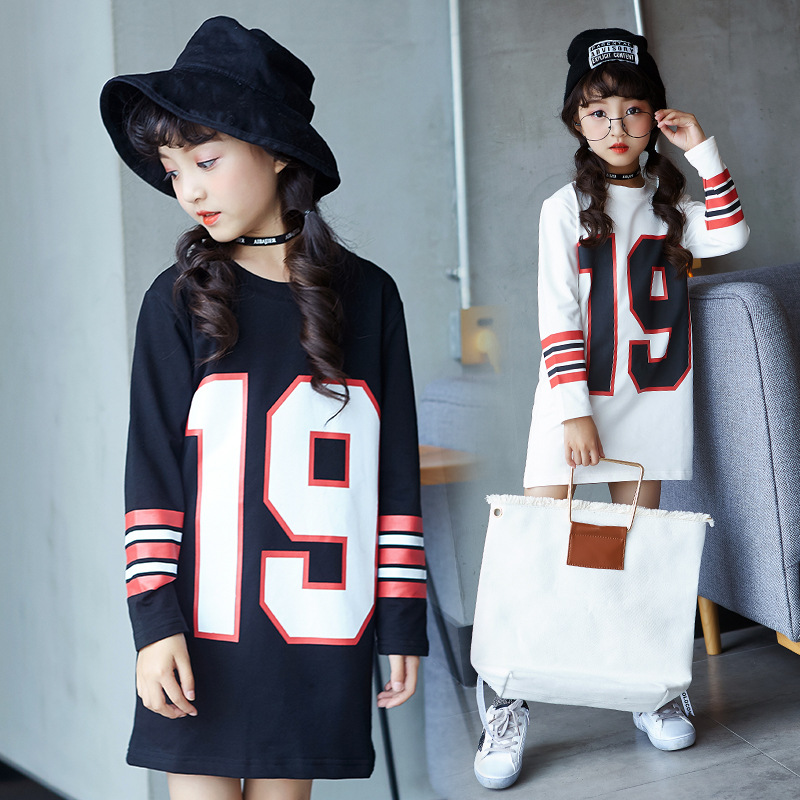 Kids Girls Dress Cotton Long Sleeve Girls Clothing Autumn Casual Children Girls Dress 5 6 7 8 9 10 11 12 13 14 15 Years edison bulb loft classical vintage pendant light lamp with with glass shade e27 e26 base free shipping