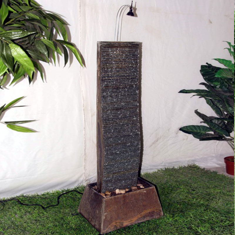 Large stone water fountain water features French lucky home ...