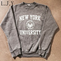 New Women's Casual Sweatshirt Femme Letter New York University Tracksuit Harajuku Pullovers  Coat Moleton Feminino