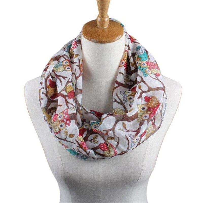 #4522 Enduring Women Ladies Owl Pattern Print Scarf Warm Wrap Shawl
