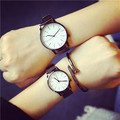 2016 Fashion Couple Watches Popular Casual Quartz Women Men Watch Minimalism Lover's Gift Clock School Boys Girls Wristwatch
