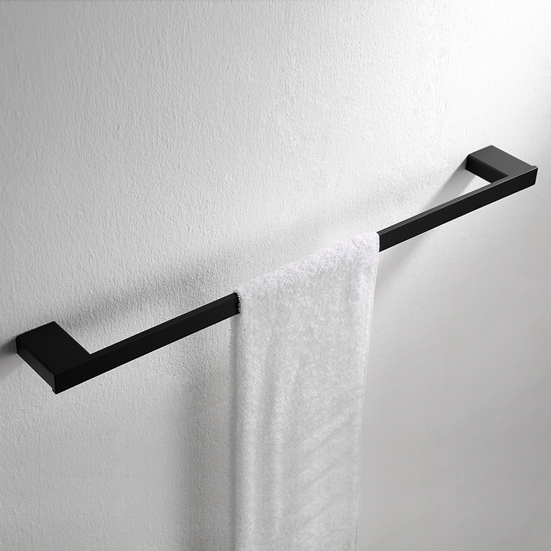 Bathroom Accessories Sets Towel Holders 304 Stainless Steel Black Single Towel Bars Bath ...