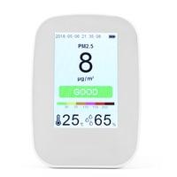 PM2.5 + TVOC + HCHO + CO2 3,5 дюймов ЖК дисплей цифровой Мониторинг качества воздуха лазерного детектора тестер газа монитор для автомобиль офис Гостин