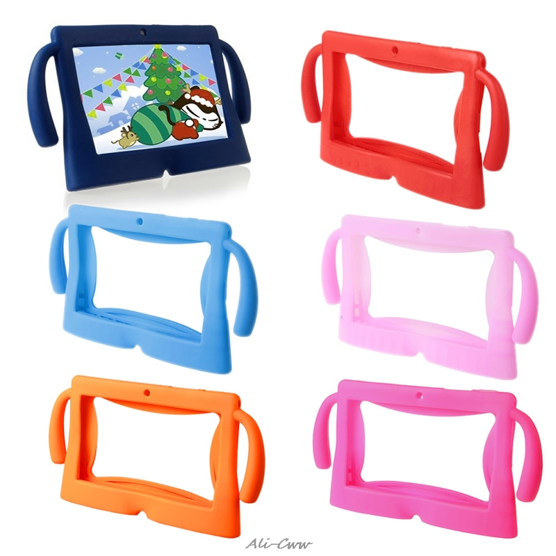 """2018 Computer Accessories Silicone Cute Soft Cover Case for 7"""" Inch Android Kids Pad Tablet PC"""
