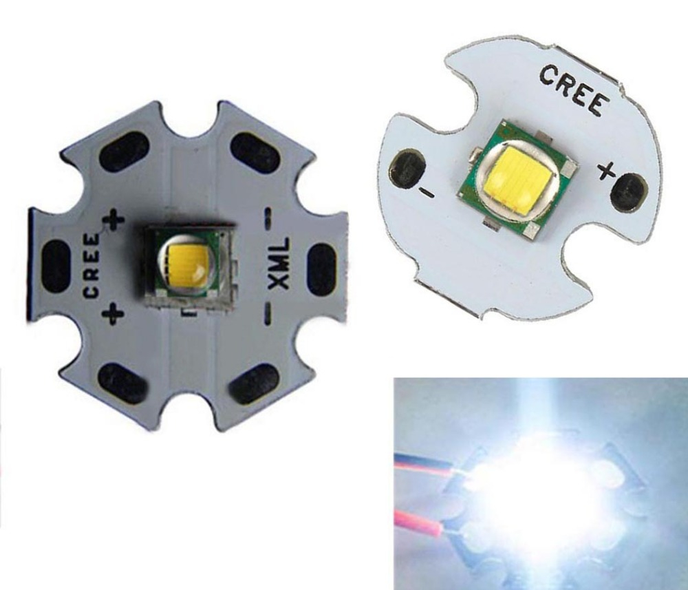 1pcs 10W High Power CREE XML XM-L T6 U2 LED Emitting Diodes Cool White With 16mm / 20mm Base For Flashlight Light