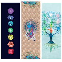 Retro Yoga Mat 3.5mm*183 cm*61cm Suede Natural Rubber Dry Wet Antiskid High Quality Home Exercise Mat For Sports Fintess Dance
