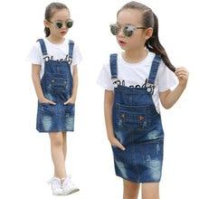Brand Baby Girls Denim Dress Clothing for 3-10T Infant Kids Summer Fashion Teenager Belt Dresses Vestidos Sundress bebes