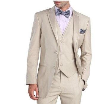 Men's suit custom size coat + pants + vest, tie Mens Wedding Suits Groom Tuxedos Best man Suits Business Suits Tailcoats Blazers