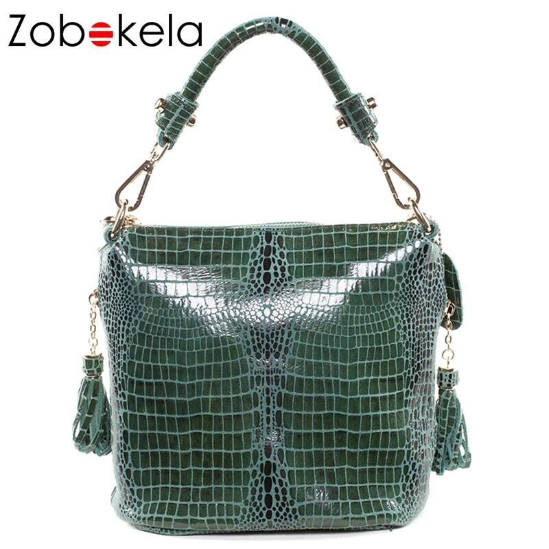 Zobokela натуральная кожа сумки роскошные сумки женские сумки дизайнерские змеиные женские сумки-мессенджеры Брендовые женские кожаные сумоч...