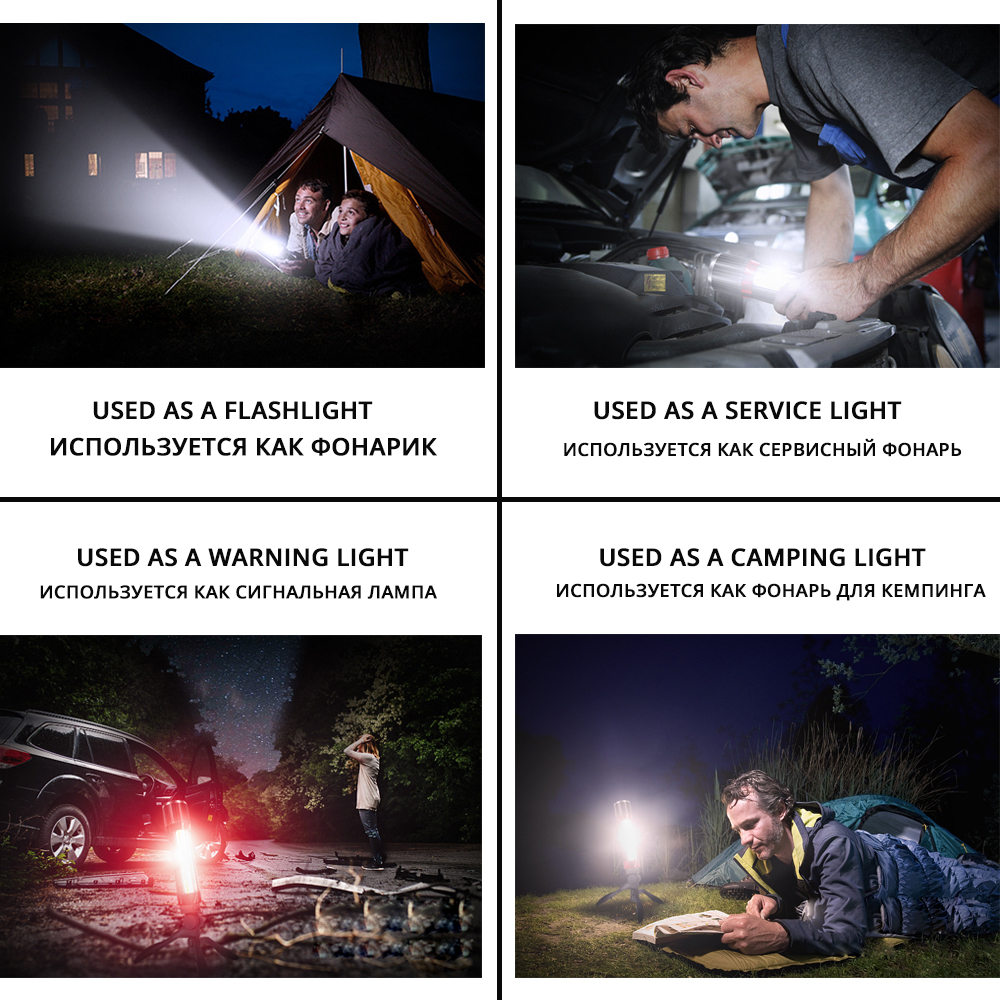 Купить с кэшбэком Novelty LED Flashlight Rotating telescopic zoom LED Torch With side light Rechargeable Camping light Floodlight Can charge phone