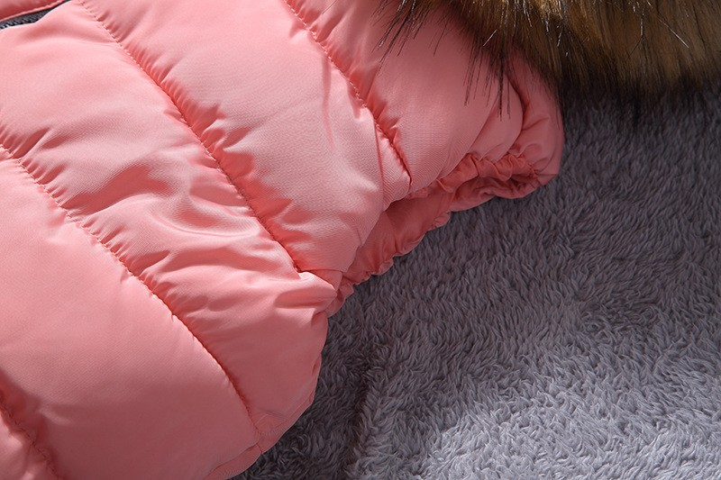 down vest with fur 0W0125 pink-4