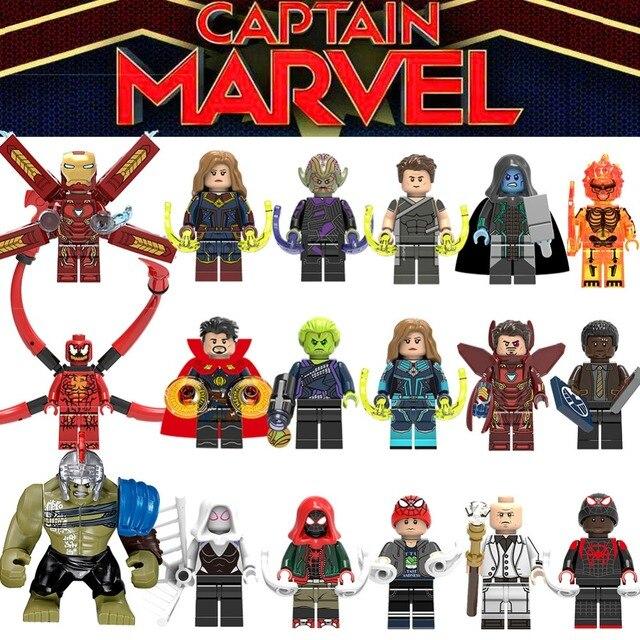 Legoingly Capitão Spiderman Maravilhas HulkBuster Groot Caçoa o Presente brinquedos figuras Blocos de construção heróis Venom compatível Legoes 25