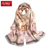2017 Ladies Silk Scarf Luxury Brand Hijab Pashmina Fashion Foulard Femme Bandana Printed Scarf Women Scarves