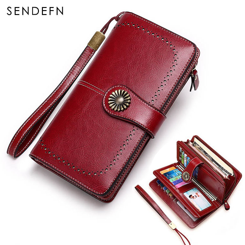 Hot Sale Wallet Women Clutch Money Bag Split Leather Wallet Female Long Wallet Women Zipper Purse Strap Coin Purse For iPhone 7 yuanyu 2018 new hot free shipping python leather women purse female long women clutches women wallet more screens women wallet