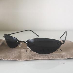 Image 3 - DIDI Mini Senza Montatura Occhiali Da Sole Uomo Classic Matrix Morpheus Ovale Occhiali da sole Donne Steampunk Film Occhiali Ultra Sottile E leggero Telaio U808