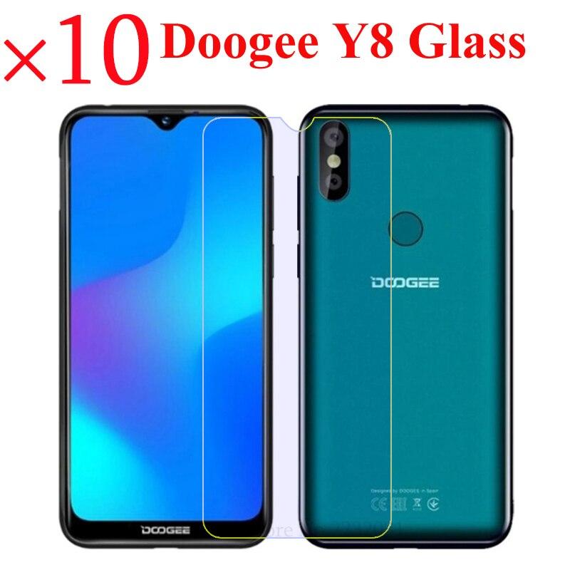 10 Pcs Gehard Glas Voor Doogee Y8 Screen Protector Premium Film Glas Voor Doogee Y8 Y8 Front Screen Guard 9 H Beschermende