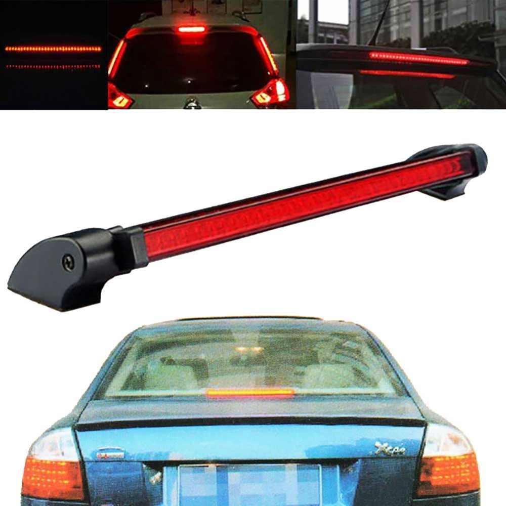 Cuque 1 x Red 24 LED Vehicle Car Auto Stop Tail Warning Red Light 3rd Brake Light 12V Universal High Mount Brake Light ABS Plastic Strip Light