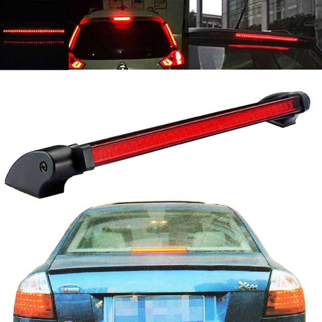 Bostar 24 LED High Mount Stop Rear Tail Warning Light Lamp Red Car Auto Third 3RD Brake Light Parking #279606
