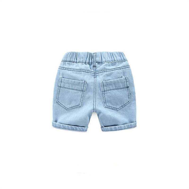 AJLONGER Boys Summer Jeans Shorts Children Cowboy Shorts Cotton Casual Baby Boys Trousers 2-7 Years Kids Clothes 2