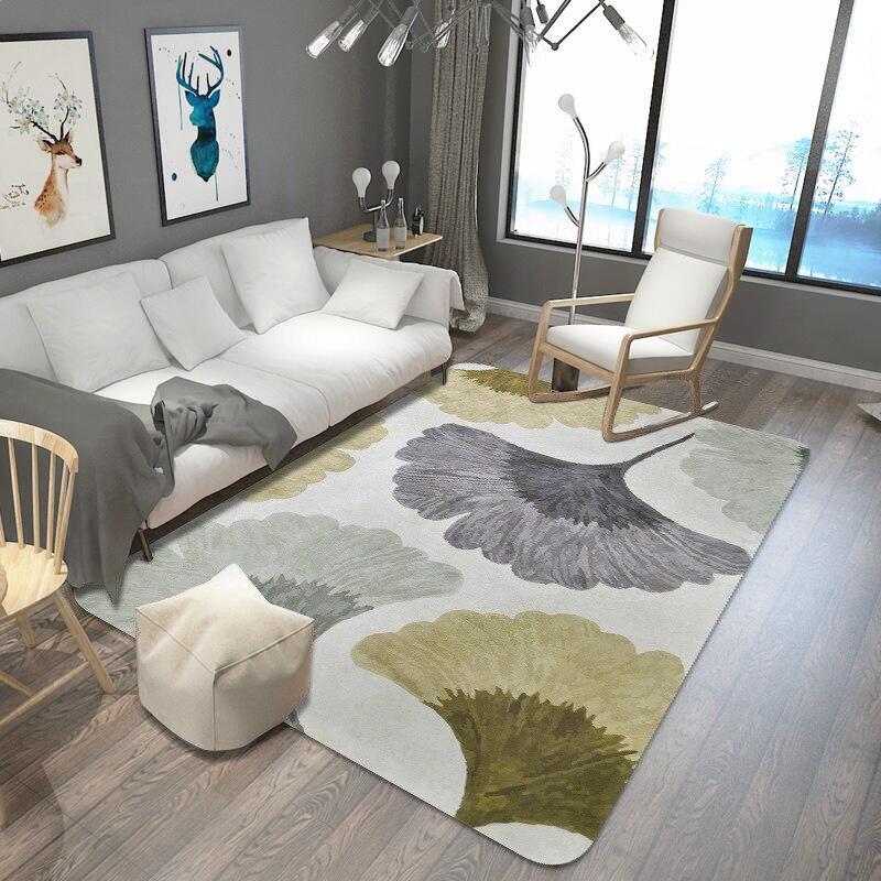 Feuilles imprimé tapis et tapis pour salon et chambre tapis de zone douce mode tapis de Table enfants tapis de jeu bébé tapis de sol tapis
