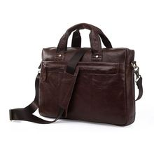 Maxdo Vintage Chocolate Men Genuine Leather Briefcase Portfolio Messenger Bags #M7075
