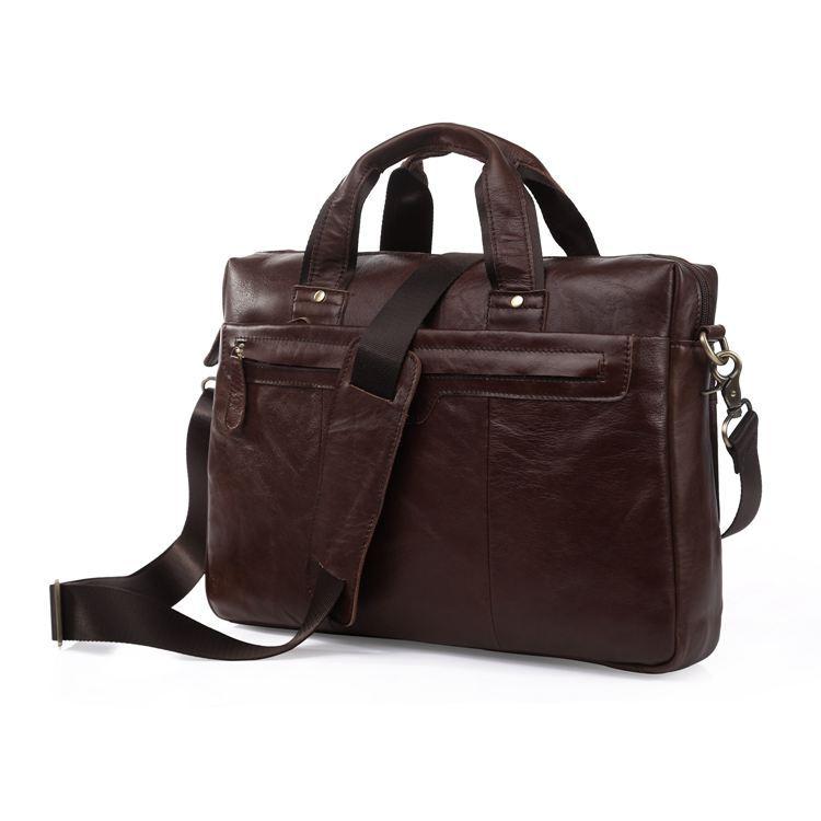 Nesitu Vintage Chocolate Genuine Leather Briefcase Portfolio Men Messenger Bags Real Skin Male Bag #M7075Nesitu Vintage Chocolate Genuine Leather Briefcase Portfolio Men Messenger Bags Real Skin Male Bag #M7075