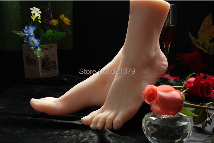 Top Quality New Sex Products,Soft Feet Fetish Toys for Man,Young Girl Lifelike Female Feet,Fake Feet Model for Sock Show, new top quality foot fetish toys solid silicone feet model sex toy adult toys for man lifelike skin ballet girl fake feet
