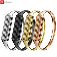 Stainless Steel Accessory Bangle Watch Band Wrist Strap For Fitbit Flex 2 Premium Materials Finishes Watchbands