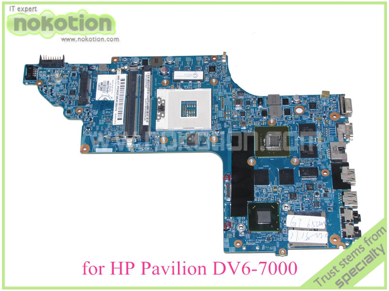 NOKOTION 48.4ST06.021 682172-001 For hp pavilion DV6-7000 DV6 mothboard Nvidia GT650M 15.6'' ddr3 original 615279 001 pavilion dv6 dv6 3000 laptop notebook pc motherboard systemboard for hp compaq 100% tested working perfect