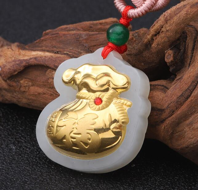 Top Quality Women Men Jade Pendant For Necklace Natural Family Gift