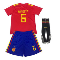 New 2018 World Cup Colombia Brazil Home Soccer Football Jersey Boys Kids T Shirt Pants Socks