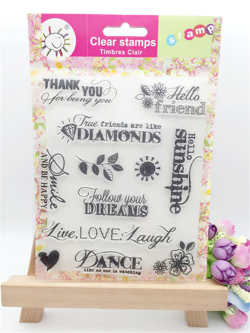 live love laugh and dream clear stamp scrapbooking stam craft wedding paper card christmas gift photo album CL-248 палетки essence live laugh celebrate palette 4