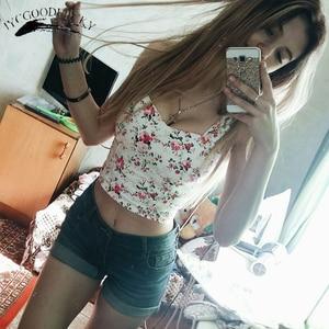Image 2 - Crop Top Short Cami Tank Top Female Cute Floral Tube Women Tops Dill 2019 Black Sexy Cropped Tops Tank Women Feminino Bustier