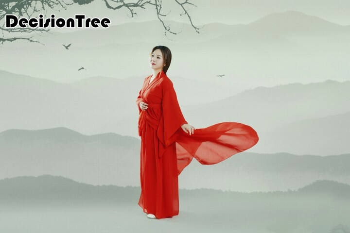 2019 ancient chinese costume women traditional chinese dance clothing for women long sleeve hanfu satin robe dress qing in Chinese Folk Dance from Novelty Special Use