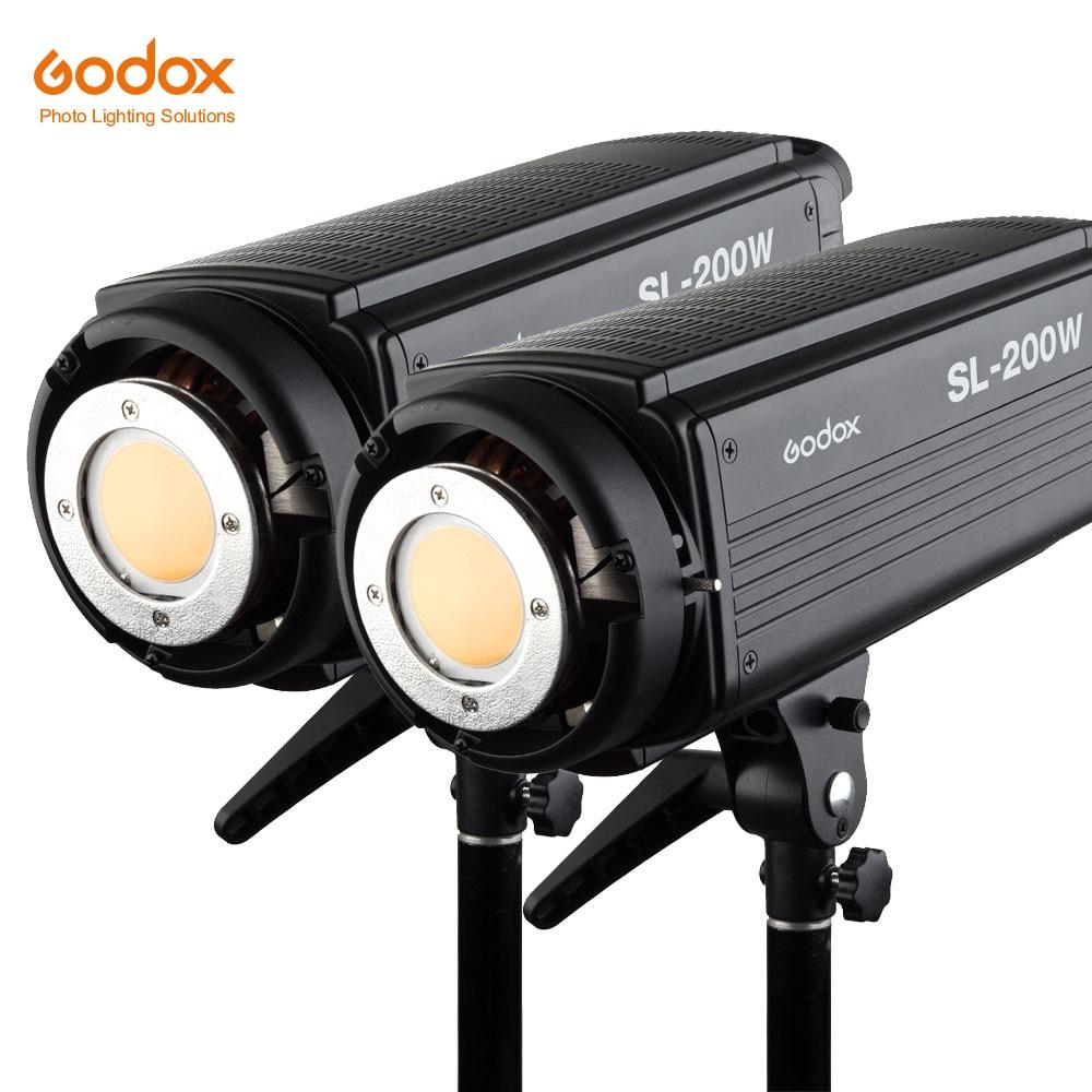 2x Godox SL 200W 200Ws 5600K Studio LED Continuous Photo Video Light Lamp w Remote