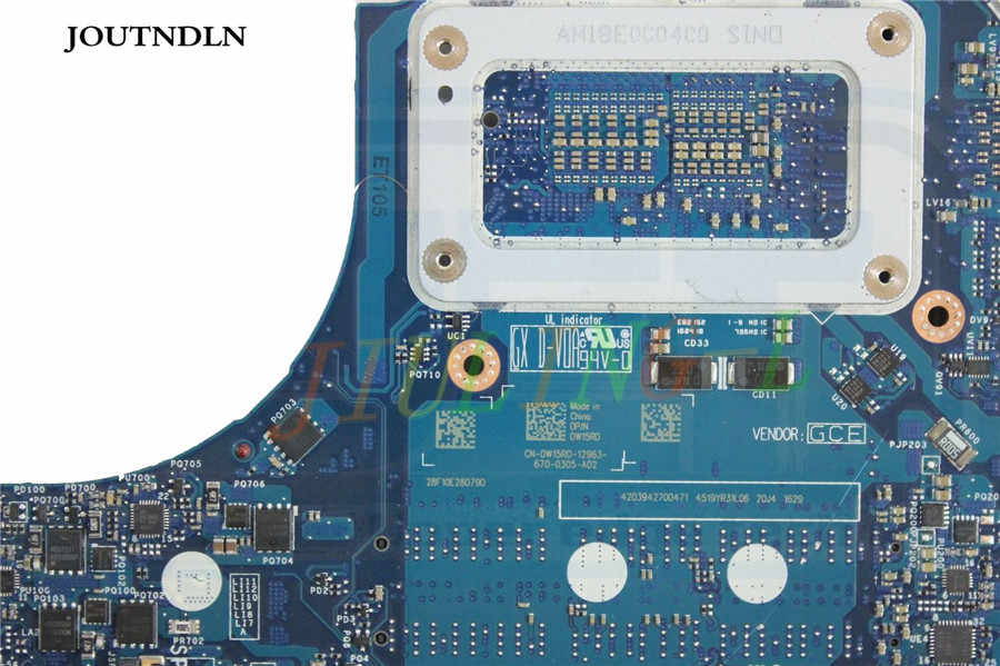 JOUTNDLN para Dell Alienware 15 R2 17 R3 placa base de computadora portátil LA-C912P AAP21 W15RD 0W15RD CN-W15RD W i7-6700HQ CPU GTX980M 8 GB GPU