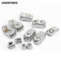 11pcs Motorcycle Switch Cap Kit Chrome For Harley Road King Street Glide Special Freewheeler 2016 2018 mando luces moto