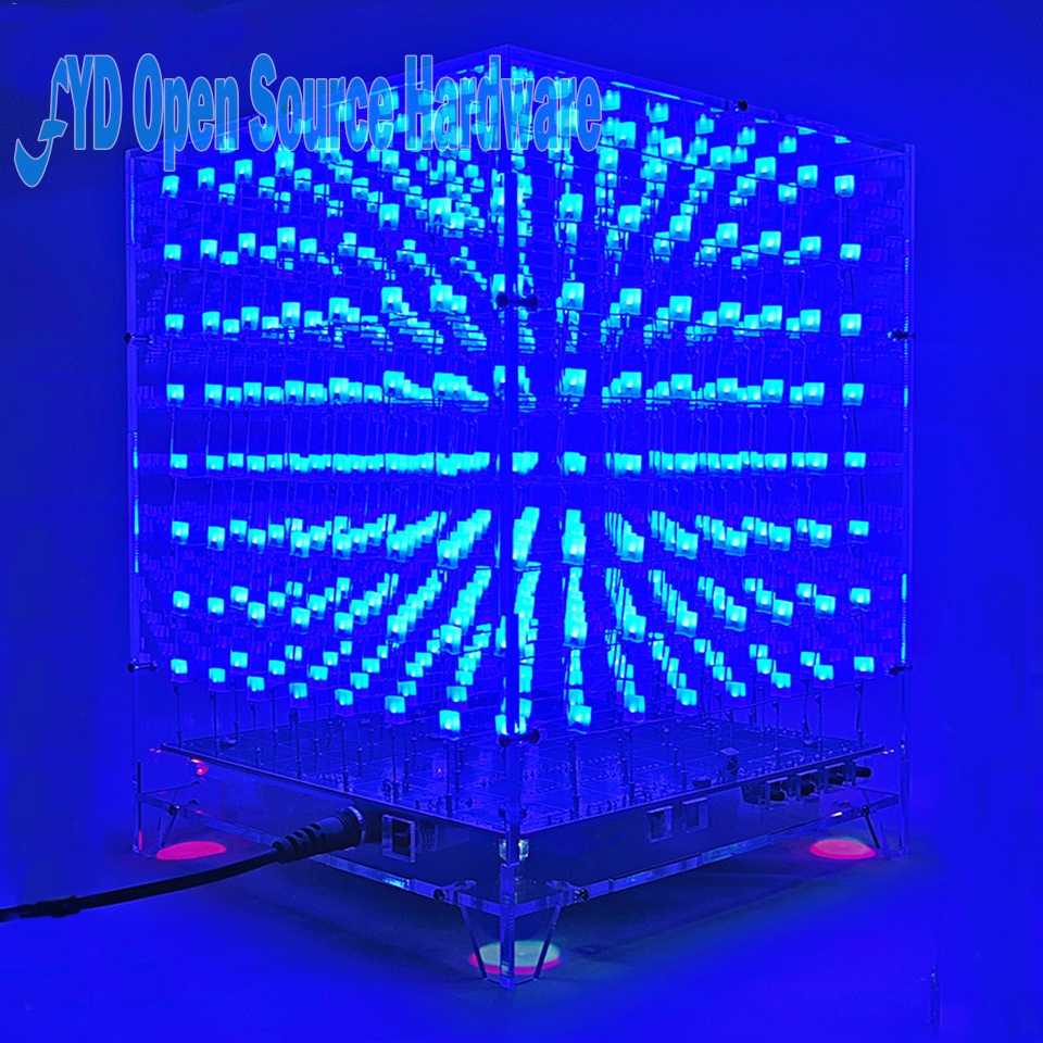 Colarful Led Cubic Ball Diy Kit 3mm Rgb Light Cube Circuit Diagram Of 8x8x8 1set 3d Lightsquared White Blue Ray Electronic Suite