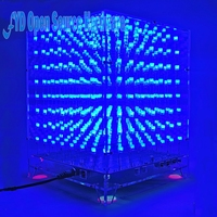 1set 8x8x8 3D LED LightSquared DIY Kit White LED Blue Ray 3mm LED Cube Electronic Suite