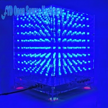 1set 8x8x8 3D LED LightSquared DIY Kit White LED Blue Ray 3mm LED Cube Electronic