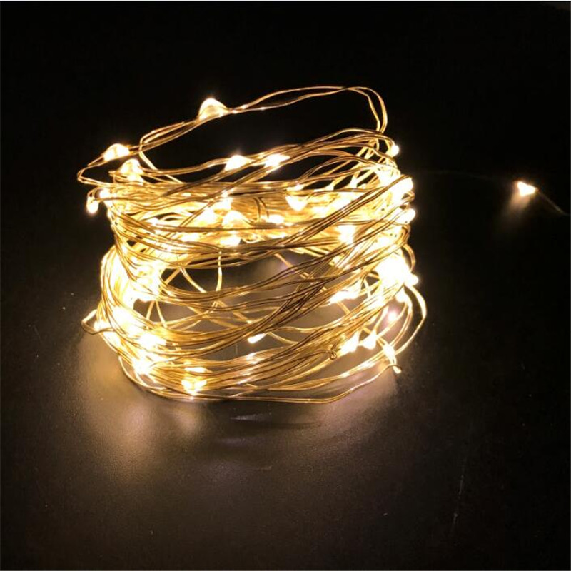 10M Copper Wire LED String lights Waterproof Holiday LED Strip lighting For Fairy Christmas Tree Wedding Party Decoration lamp in LED String from Lights Lighting