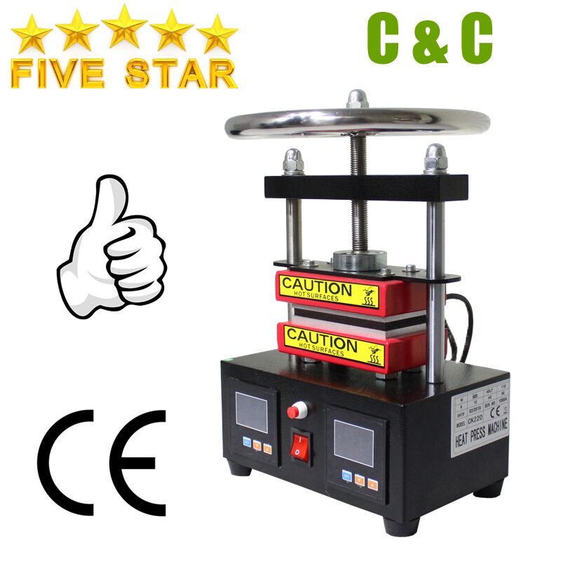 Free shipping Adjustable Pressure Rosin Press Hydraulic Heat Press Machine Dual Heating Plates Oil Extractor CK220