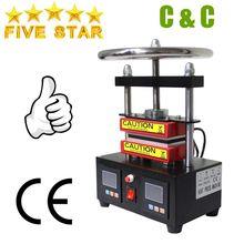 Gratis verzending Verstelbare Druk Rosin Druk Hydraulische Warmte Persmachine Dual Verwarming Platen Olie Extractor CK220