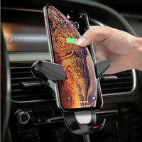 Qi Wireless Charger Car Air Vent Mount For iPhone XS MAX XR X 8 Fast Charging 10W Gravity Bracket For Samsung S10 Plus 5G Huawei